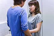 Riho Mikami - Sweet Riho Mikami kneels to provide Japanese blow job  - Picture 11