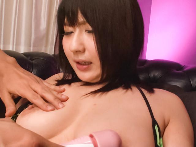 Megumi Haruka - Teen asian dildo sex has Megumi Haruka cumming loud - Picture 6