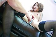 Luna - Luna in stockings has japanese blow jobs for everyone - Picture 12
