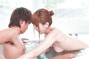 Yui Hatano - Asian girl blowjob along naughty Yui Hatano - Picture 8