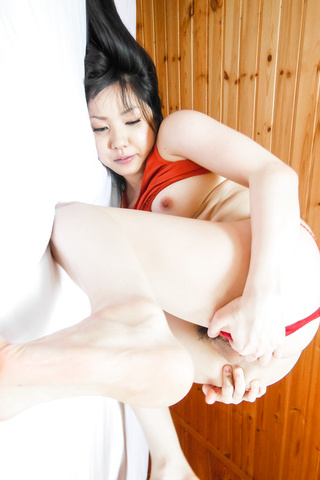Airi Minami - Hot solo witha busty Japanese babe and her Asian dildo - Picture 12