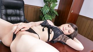 Asian blow job by busty AsianRie Tachikawa