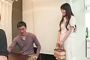 Nana Nakamura - Asian blow jobs by hot milf in sexy lingerie  - Picture 1