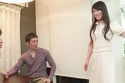 Nana Nakamura - Asian blow jobs by hot milf in sexy lingerie  - Picture 2