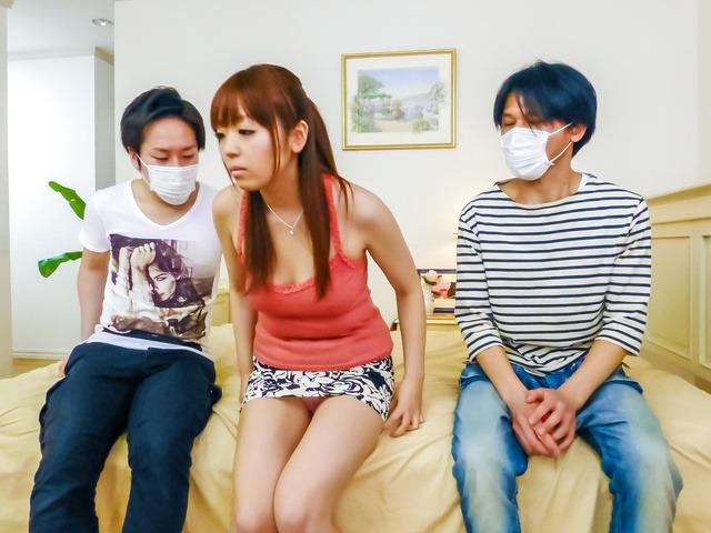 Hina Misaki gives a japan blowjob and tit fucking