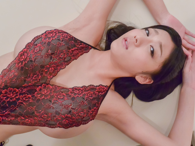 Miho Ichiki - Cock sucking beauty enjoys cum on her sweet face  - Picture 5