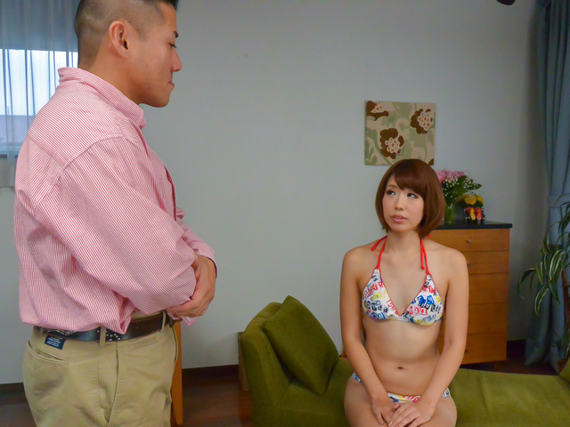 Seira Matsuoka - Slim Seira Matsuoka provides great asian blowjob - Picture 3