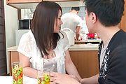 Sanae Akino - 兄貴に隠れてフェラ ~ 秋野早苗 - Picture 1
