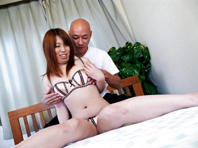 Ai Ootomo - Ai Ootomo with brown nipples rides dong - Picture 6