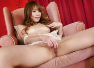 Ayaka Fujikita touches her jugs while pleasuring with vibrator