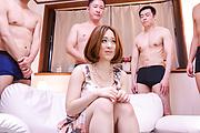 Doremi Miyamoto - Group Japan blow job by busty Doremi Miyamoto - Picture 1