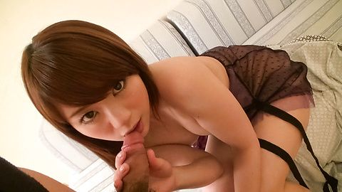 Mayuka Akimoto gives him young asian sex with her mouth