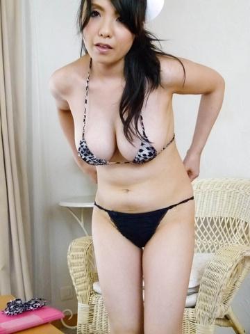 Miho Tsujii - Horny nurse Miho Tsujii gives an asian pov blowjob - Picture 10