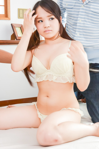 Risa Oomomo - Dirty Japanese trio with cock sucking Risa O. - Picture 1