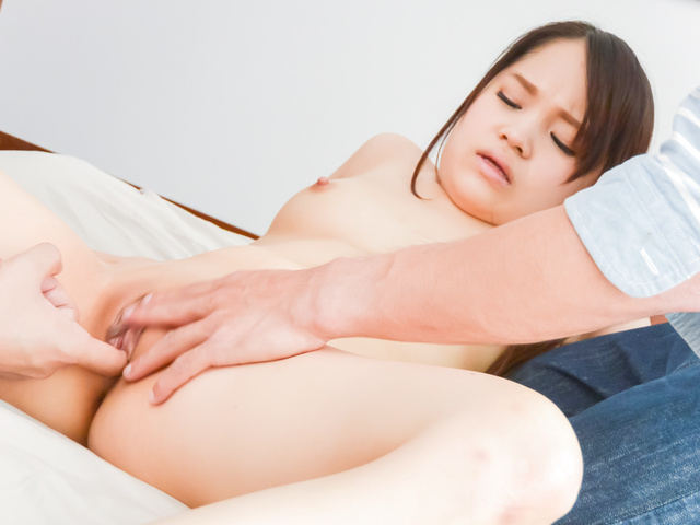 Risa Oomomo - Dirty Japanese trio with cock sucking Risa O. - Picture 9