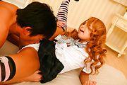 Yuno Shirasu - 兼用白饭鱼淘气的亚洲青少年获取剃的阴户舔 - 图片 11