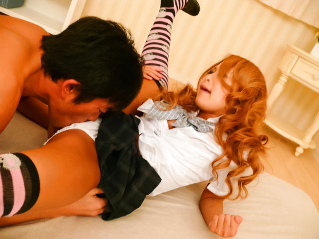 Yuno Shirasu - Yuno Shirasu naughty Asian teen gets shaved pussy licked - Picture 11