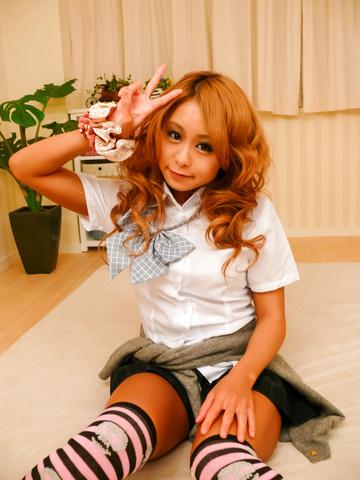 Yuno Shirasu - Yuno Shirasu naughty Asian teen gets shaved pussy licked - Picture 5