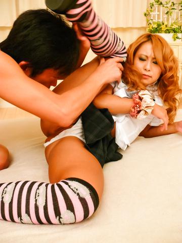 Yuno Shirasu - Yuno Shirasu naughty Asian teen gets shaved pussy licked - Picture 8
