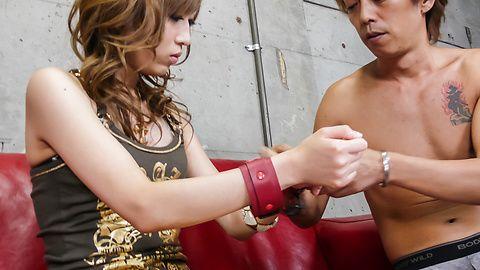 Meri Kanami in japanese bondage wants a creampie
