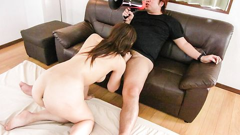 DP and asian anal group sex leaves Rika Minamino cum covered