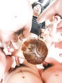 Kaho Kitayama - Kaho Kitayama gets nasty in asian blowjob group scene - Picture 1