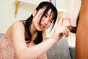 Jun Mamiya - Jun Mamiya fondles cock with her hot assets - Picture 2