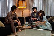 Aoi Miyama - ドMな美巨乳お嬢様~生ハメ3P姦 - Picture 1