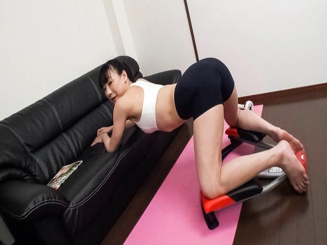 Miho Wakabayashi - Busty Miho Wakabayashi Toyed to Orgasm During Exercise - Picture 10