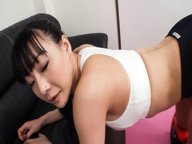 Miho Wakabayashi - Busty Miho Wakabayashi Toyed to Orgasm During Exercise - Picture 12