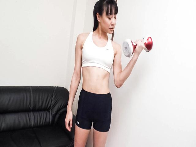 Miho Wakabayashi - Busty Miho Wakabayashi Toyed to Orgasm During Exercise - Picture 4
