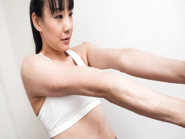 Miho Wakabayashi - Busty Miho Wakabayashi Toyed to Orgasm During Exercise - Picture 5