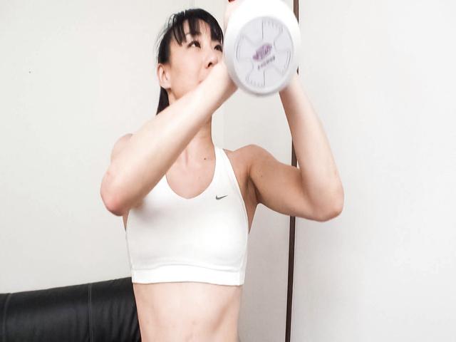 Miho Wakabayashi - Busty Miho Wakabayashi Toyed to Orgasm During Exercise - Picture 7