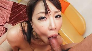Hinata Komine sucking cock like never before