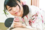 Reo Saionji - 浴衣姿でごっくんフェラ~西園寺れお - Picture 10