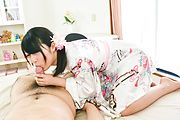 Reo Saionji - 浴衣姿でごっくんフェラ~西園寺れお - Picture 12