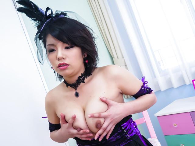 Mei Ashikawa - 亚洲的假阳具为性感美苇川 ' s 湿猫 - 图片 5