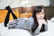 Chiemi Yada - Teen with glasses amazes with Japanese blowjob  - Picture 6