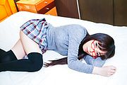 Chiemi Yada - Teen with glasses amazes with Japanese blowjob  - Picture 9