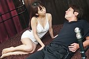 Yui Misaki - Amazing Japanese blowjob by insolent Yui Misaki - Picture 2