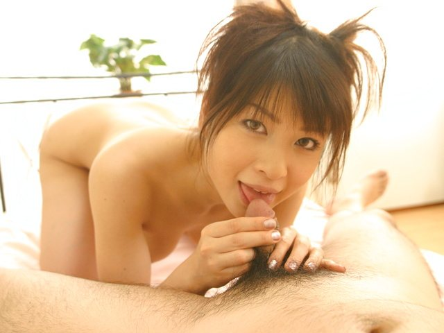 Hyori Shiraishi - Hyori Shiraishi shows how to lick and ride a cock well - Picture 6
