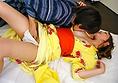 和服包的樱花广田诱使一位朋友在他妈的