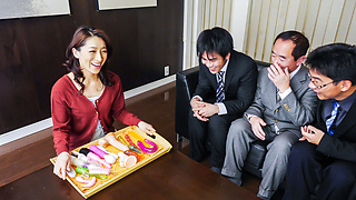 Japanese blowjob by steamy Marina Matsumoto