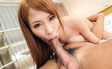 Nami Itoshino having Japanese blowjob on stiff cocks