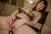 Rei Furuse - Serious Japanese dildo ride by dzzling cutie Rei Furuse - Picture 6