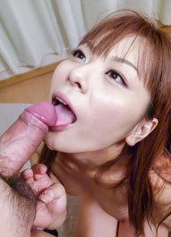 Anri Sonozaki Asian licks dong and rubs it of her boobs till cums