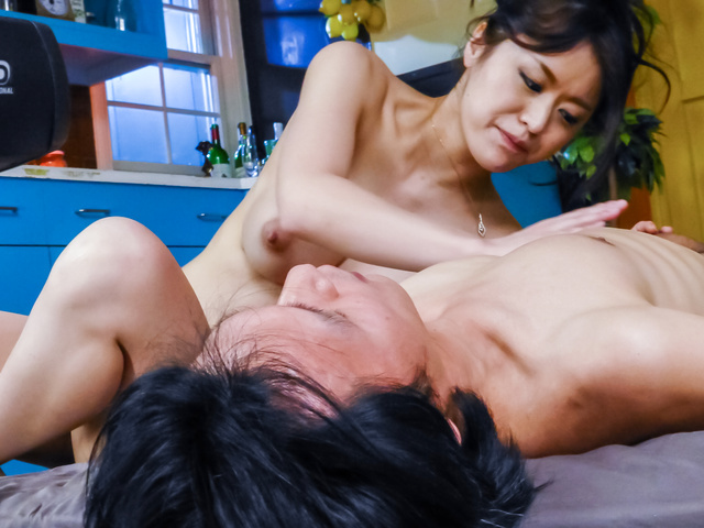 Kaede Niiyama - Kaede Niiyamablows cock in POV and enjoys Asian cum - Picture 6