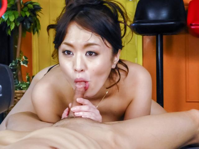 Kaede Niiyama - Kaede Niiyamablows cock in POV and enjoys Asian cum - Picture 8