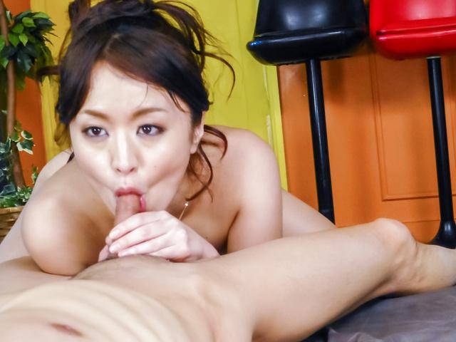 Kaede Niiyama - Kaede Niiyamablows cock in POV and enjoys Asian cum - Picture 9