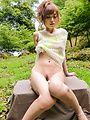 Mikuru Shiina - Outdoor Asian blow job by lustfulMikuru Shiina - Picture 10